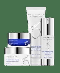 daily skin care programma van zo skin health met 4 producten